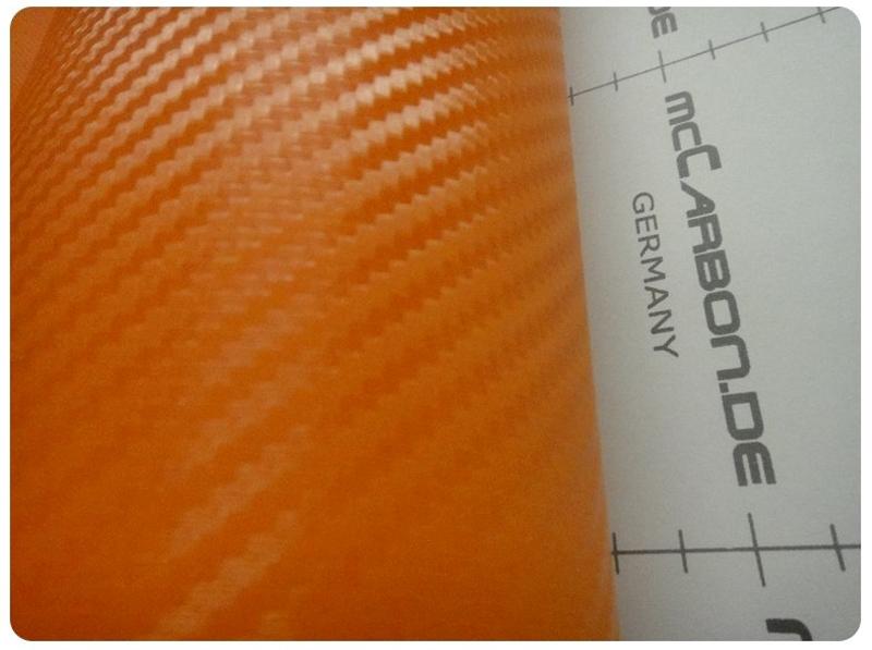 Carbon Πορτοκαλί 3000x152cm Bubble Free 510