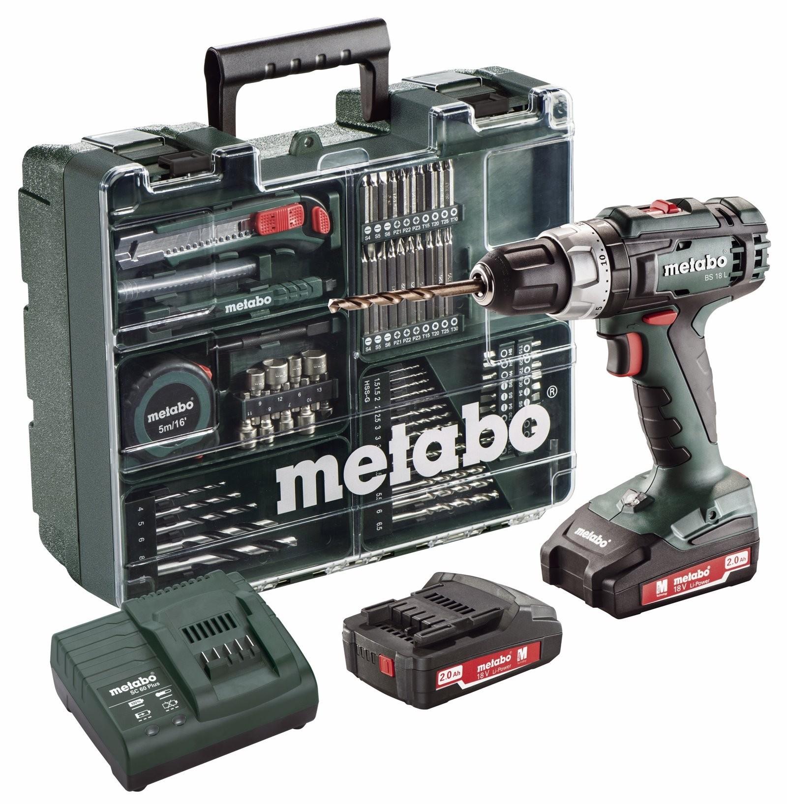 Δραπανοκατσάβιδο Metabo 18V BS 18L Set
