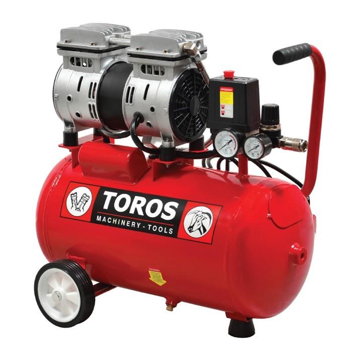 Αεροσυμπιεστής Toros 0,75HP / 24L 40145