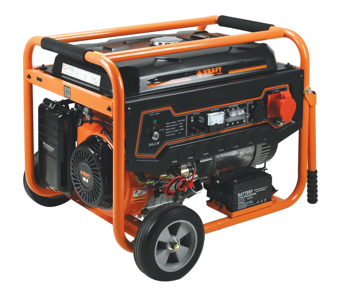 Ηλεκτρογεννήτρια Βενζίνης Kraft LT 9000-3 (Τριφασική)
