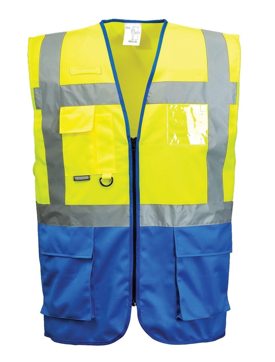 Γιλέκο ανακλαστικό PortWest C476 Κίτρινο-μπλε