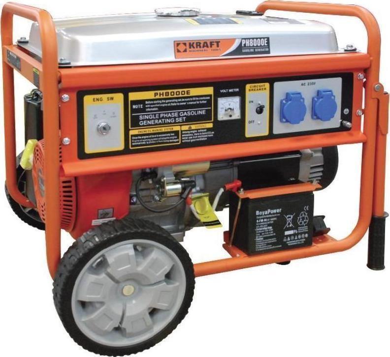 Ηλεκτρογεννήτρια Βενζίνης Kraft PH8000E