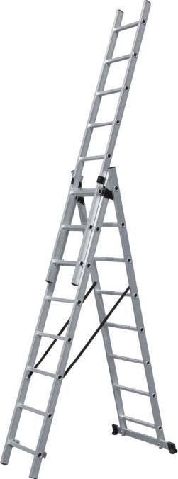 Σκάλα Αλουμινίου Τριπλή Επεκτεινόμενη BULLE EN131 631125