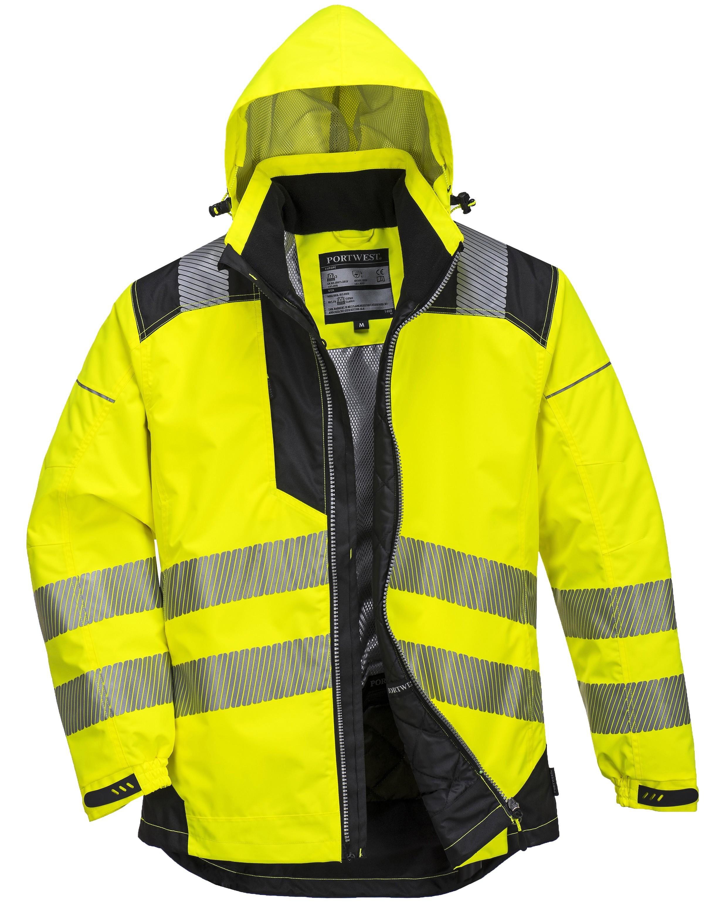 bfdec4d3f9 Μπουφάν Φωσφοριζέ αδιάβροχο PortWest T400 Κίτρινο