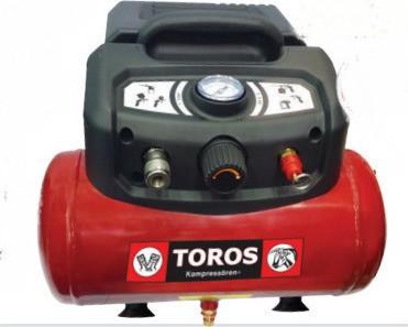 Αεροσυμπιεστής Toros Oilfree 1,5HP / 6L 602036