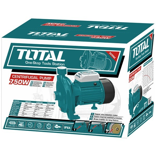 Αντλία Επιφάνειας περιφερειακή TOTAL 750W TWP27501 1