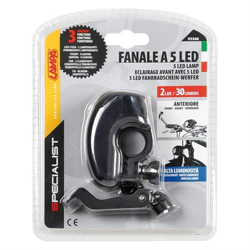Φως ποδηλάτου SPECIALIST 5 led με διπλό σύστημα προσαρμογής 3 χρήσεις 1