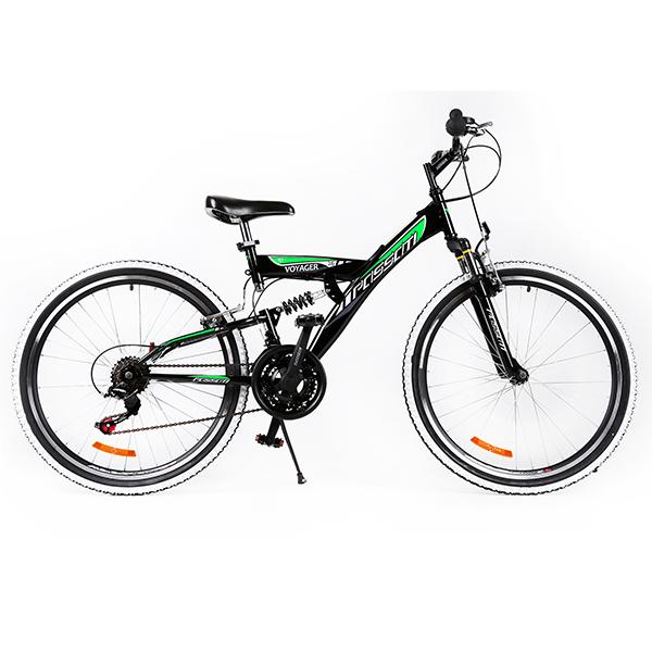"""Ποδήλατο VOYAGER 26"""" FULL SUSPENSION Μαύρο"""