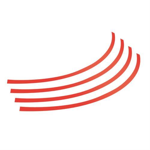 Διακοσμητικά Αυτοκόλλητα Ζάντας Πλαστικά - Κόκκινα 14''-15''-16'