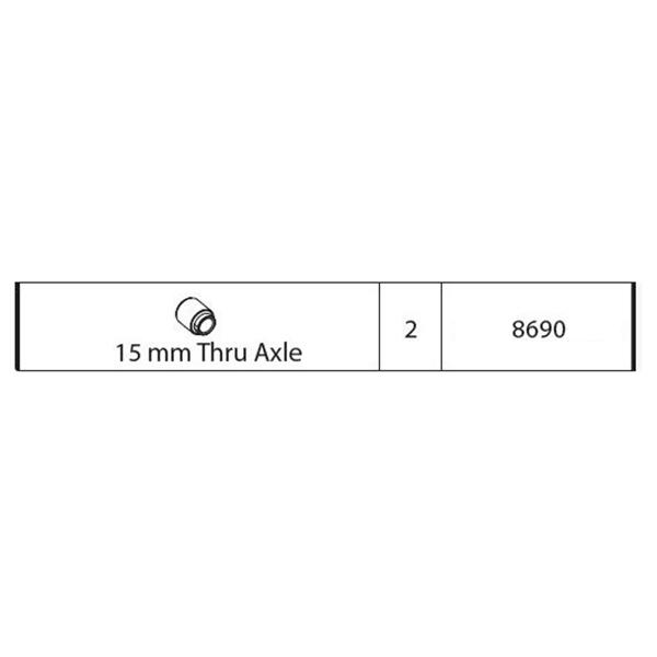 ΑΠΟΣΤΑΤΗΣ ΨΑΛΙΔΙΟΥ 15mm ΓΙΑ ΒΑΣΗ ΠΟΔΗΛΑΤΟΥ ΟΡΟΦΗΣ ΑΛΟΥΜΙΝΙΟΥ PRO TOUR (8610/MB)