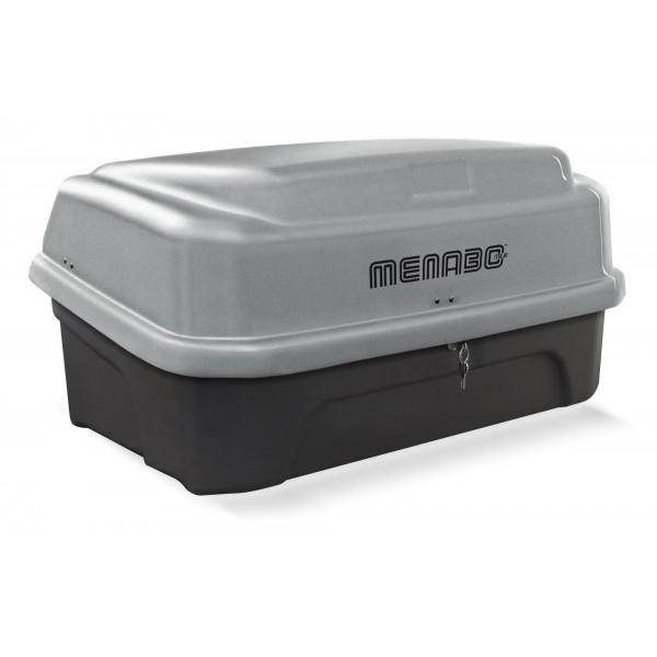Μπαγκαζιέρα Κοτσαδόρου (κουτί) menabo BOXXY 330lt σε ασημί χρώμα