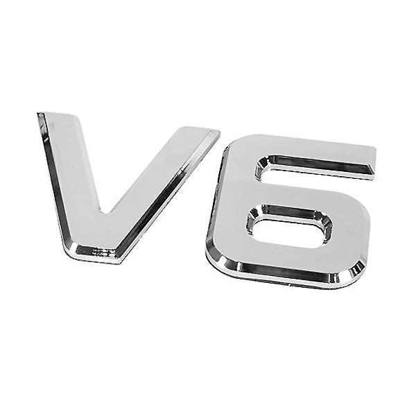 ΑΥΤΟΚΟΛΛΗΤΟ ΜΕΤΑΛΛΙΚΟ 3D ΣΗΜΑ V6