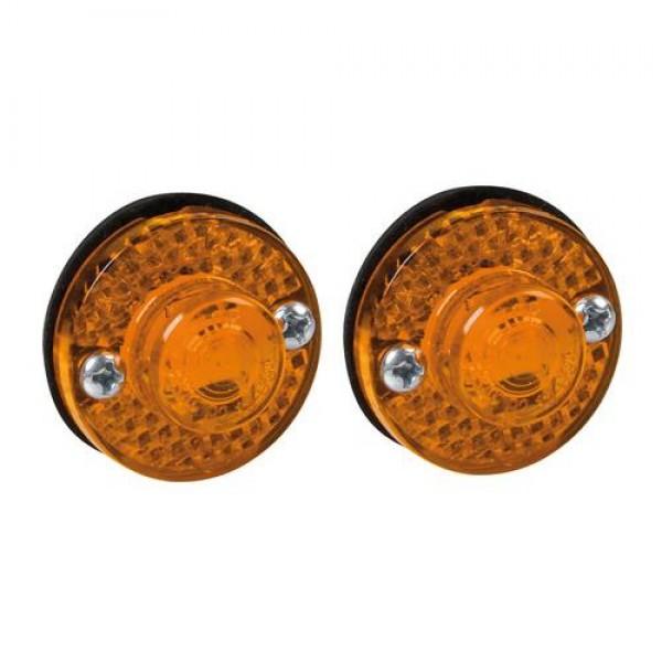 Φώτα Όγκου Φορτηγού 24V 1 Led 2τεμ Πορτοκαλί S-11