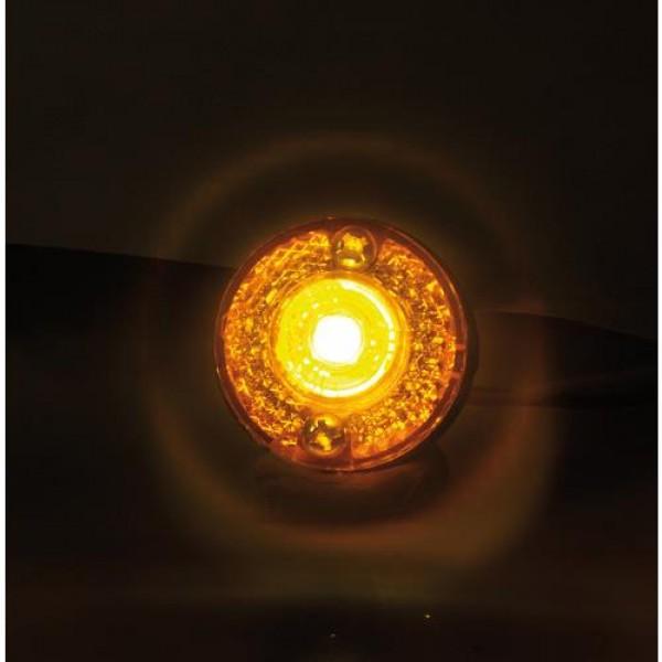 Φώτα Όγκου Φορτηγού 24V 1 Led 2τεμ Πορτοκαλί S-11 3