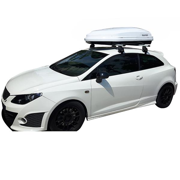 Kit Μπάρες Αλουμινίου - Πόδια - Μπαγκαζιέρα DIAMOND 450 για Seat Ibiza 3 doors 2008+