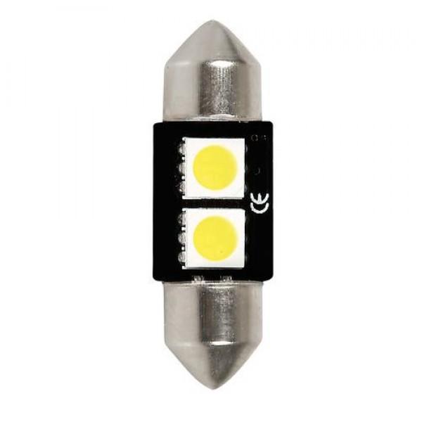 ΛΑΜΠΑΚΙ ΠΛΑΦΟΝΙΕΡΑΣ 12V 10x31mm HYPER-LED6 ΛΕΥΚΟ 2SMDx3chips (ΔΙΠΛΗΣ ΠΟΛΙΚΟΤΗΤΑΣ- CAN-BUS) 1ΤΕΜ.