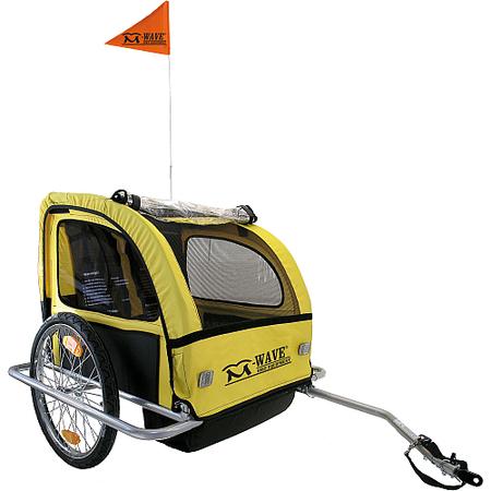 M-Wave Ρυμουλκούμενο Καρότσι ποδηλάτων για 2 παιδιά