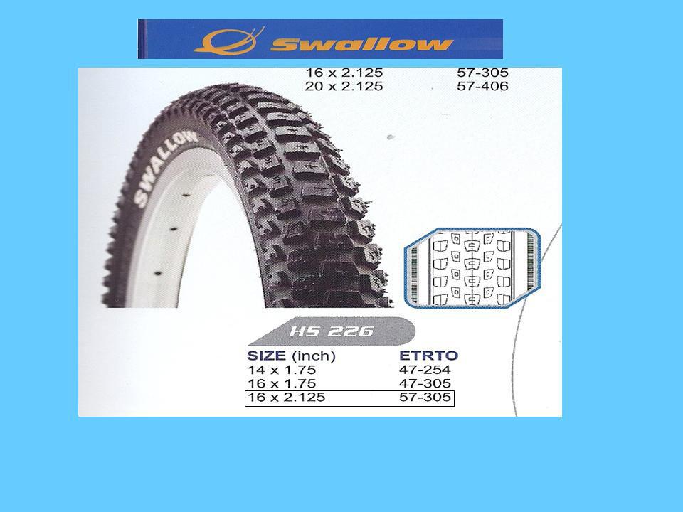 ΕΛΑΣΤΙΚΟ ΠΟΔΗΛΑΤΟΥ SWALLOW 16X2,125 (57-305 )