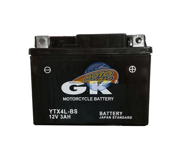 ΜΠΑΤΑΡΙΕΣ GK YTX4L-BS/YT4L-BS 12V 3Α -+ Ξ.Φ. ΜΕ ΥΓΡΑ CP