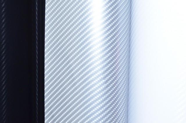 Carbon 4D ΑΣΗΜΙ 50x152cm Bubble Free 602