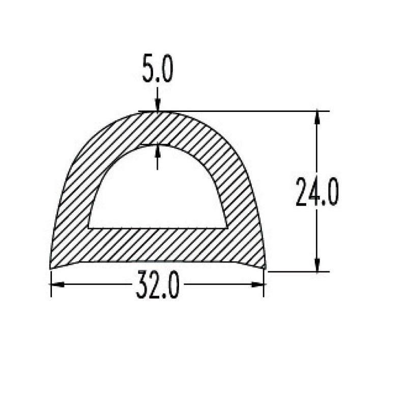 ΠΡΟΦΙΛ PVC ΒΑΡΕΩΣ ΤΥΠΟΥ ΓΙΑ ΠΟΛΛΑΠΛΕΣ ΕΦΑΡΜΟΓΕΣ W32 x H24
