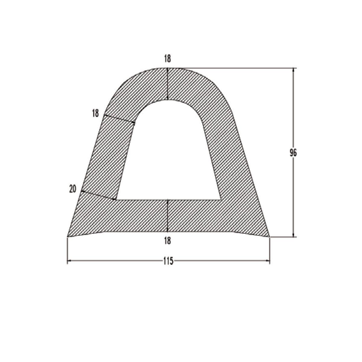 ΠΡΟΦΙΛ PVC ΒΑΡΕΩΣ ΤΥΠΟΥ ΓΙΑ ΠΟΛΛΑΠΛΕΣ ΕΦΑΡΜΟΓΕΣ W115 X H96