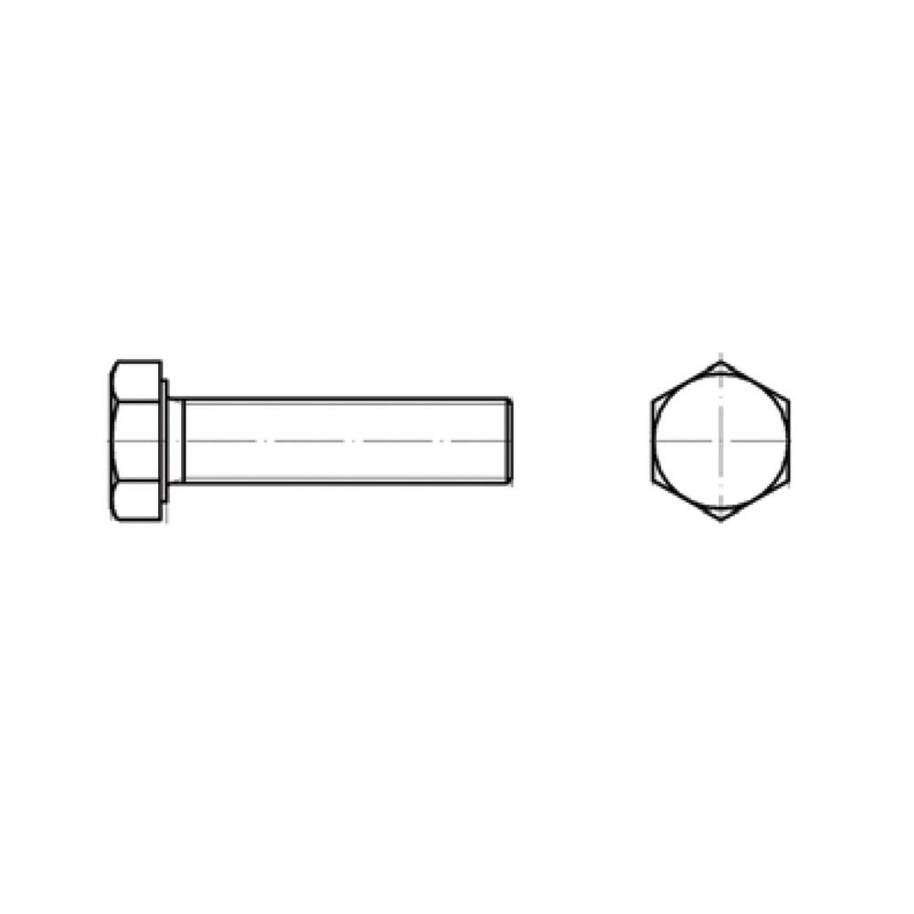 ΒΙΔΑ DIN 933 INOX 6x10mm (ΣΥΣΚ.4τμχ)